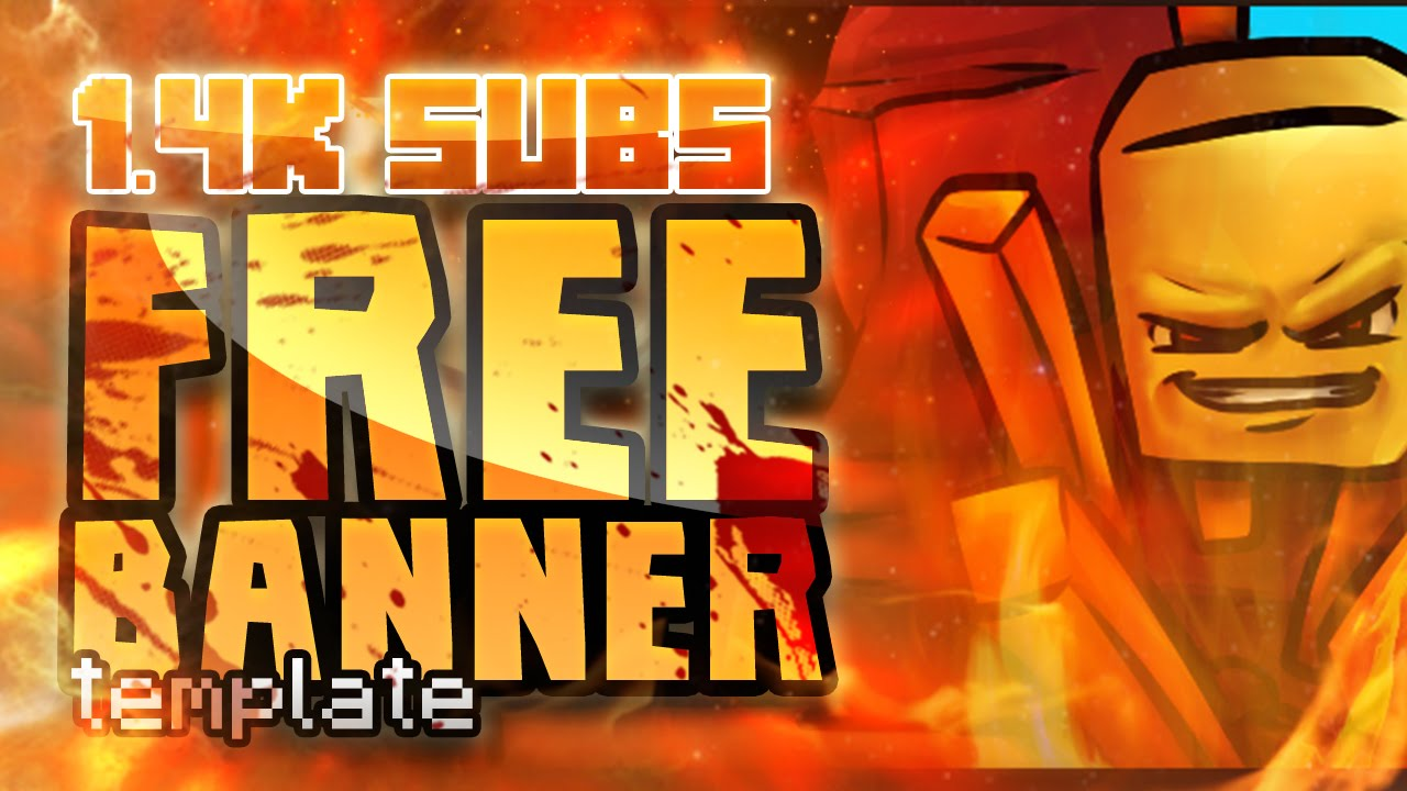 Free Minecraft YouTube Banner Template #1 - MinecraftRocket