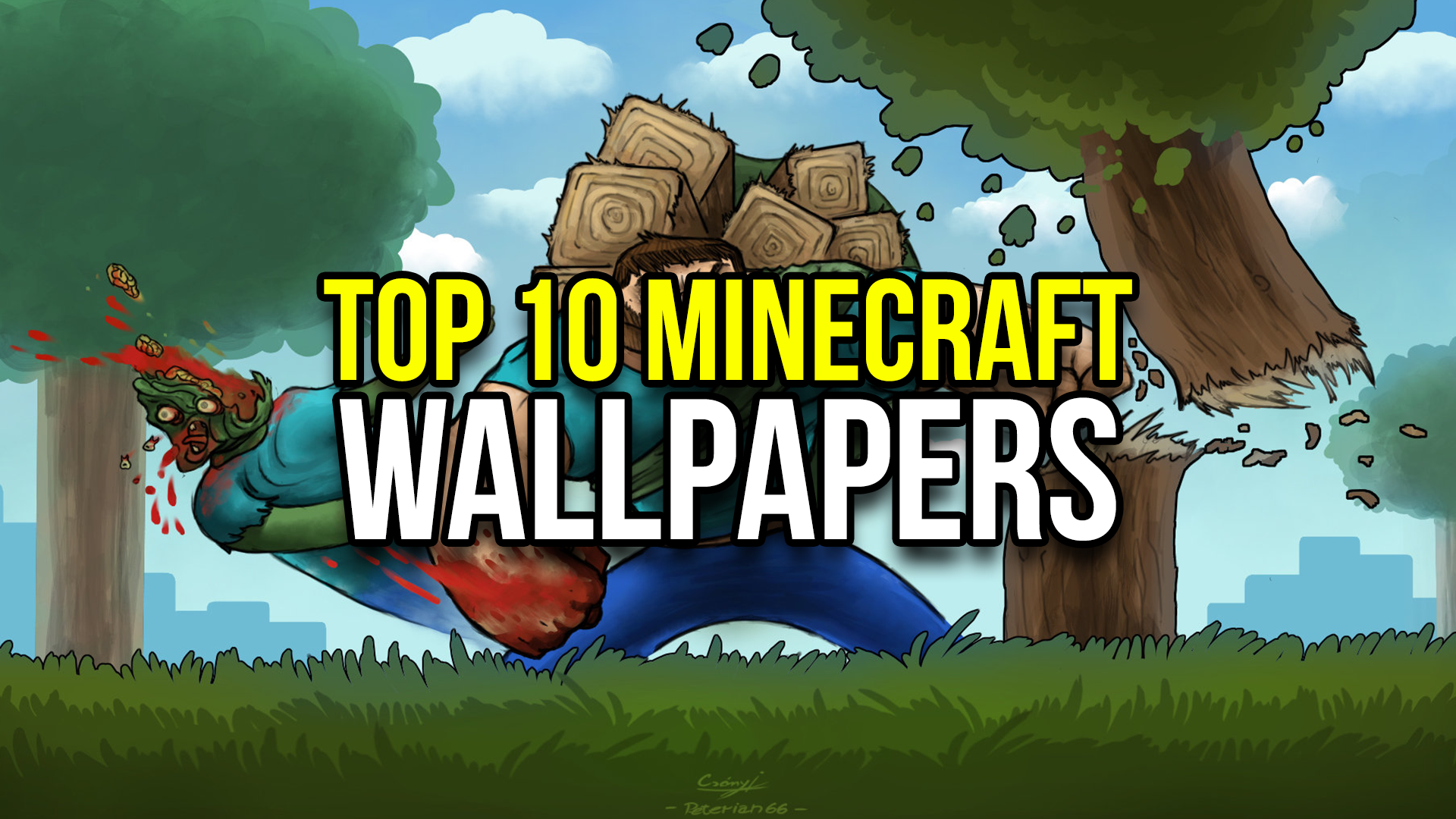 top 10 minecraft wallpapers - minecraftrocket